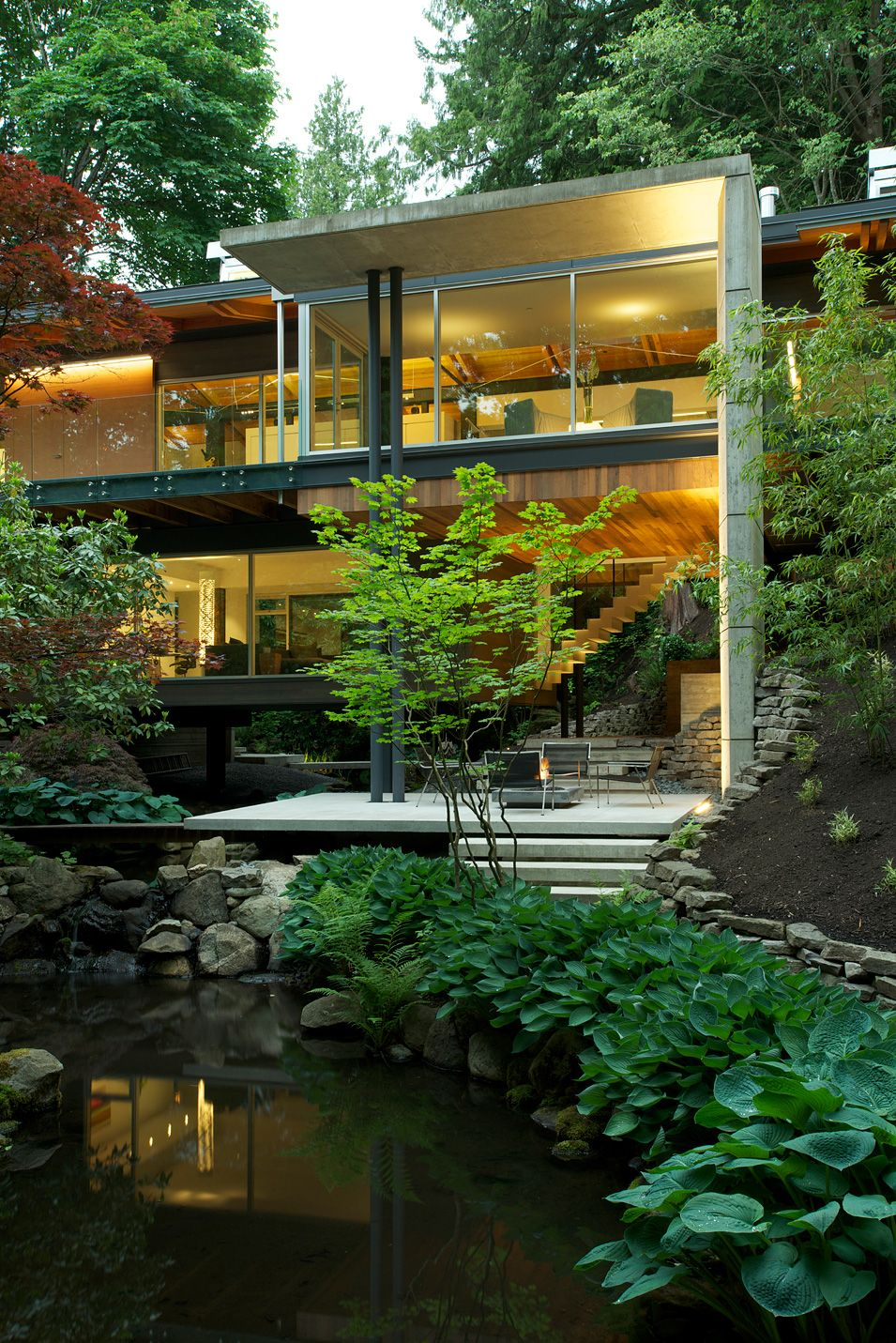 Very nice sitting area outside vancouver dialog architects canada