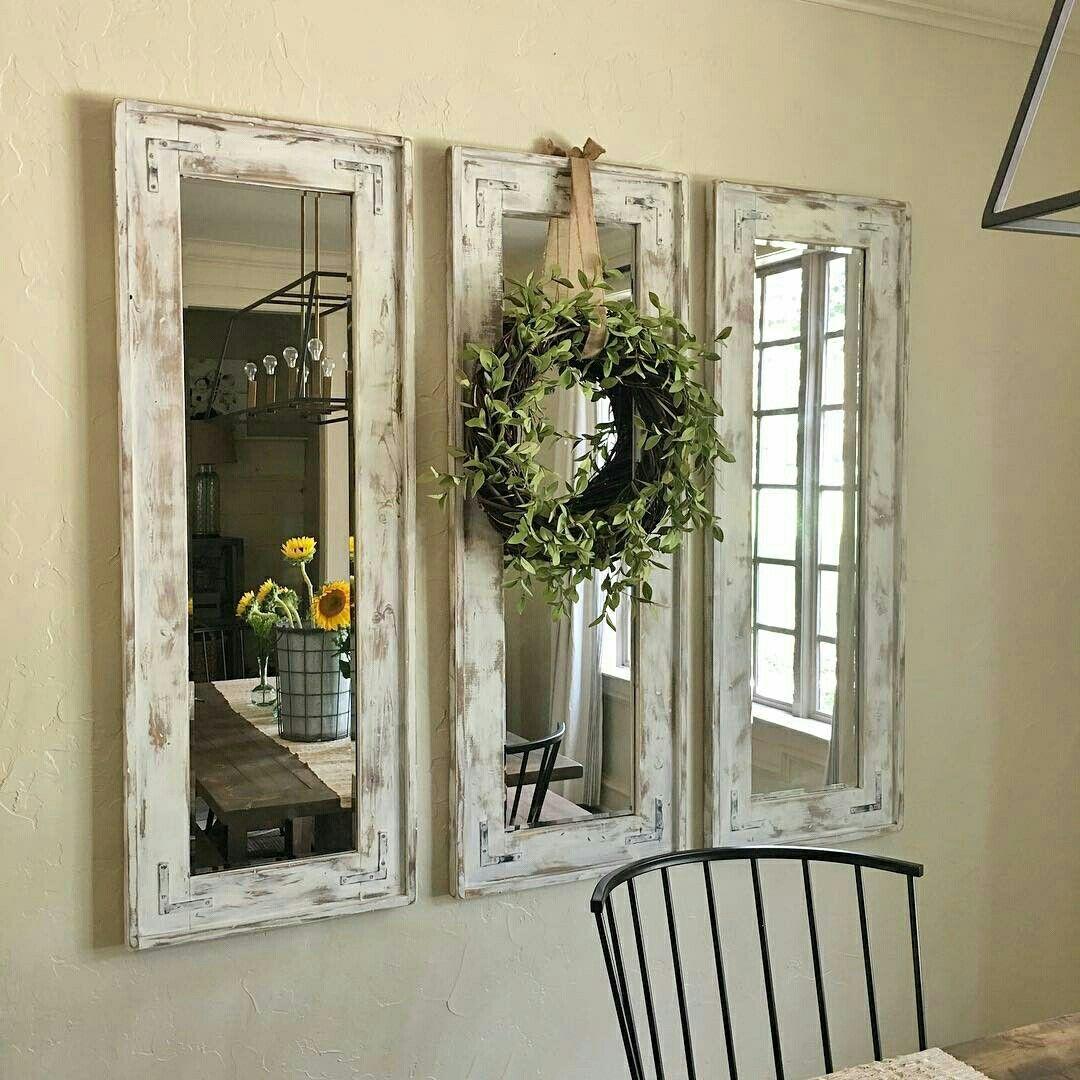 28+ Farmhouse mirror with wreath ideas