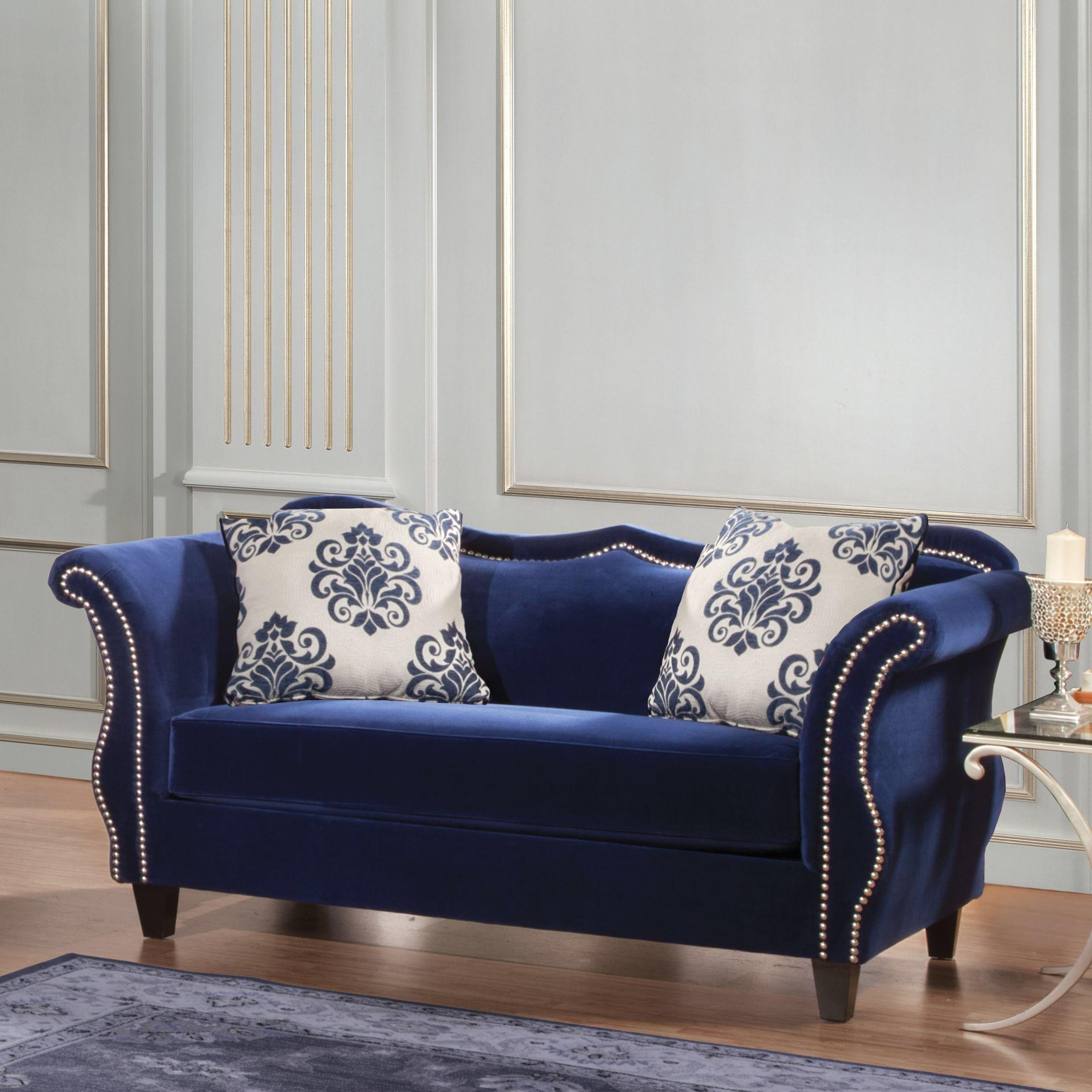 living room in blue%0A Emillio Premium Loveseat  Living room