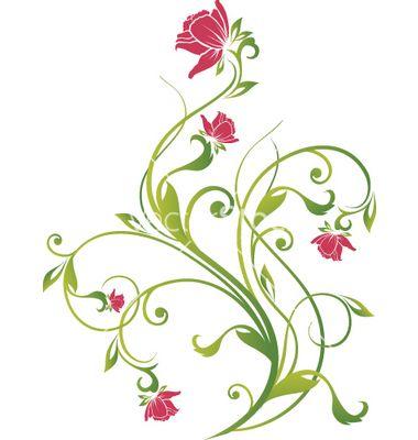 Floral vine graphic vector | Floral and Filigree ...  Floral vine gra...