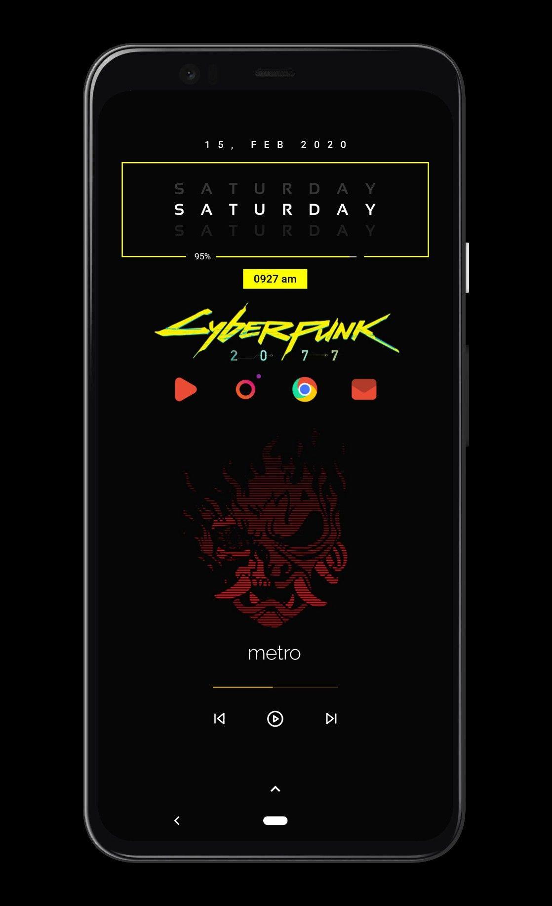 Cyberpunk 2077 Android Setup Android App Design Nova Launcher Mobile App Design Inspiration