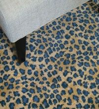 When Only Blue Leopard Will Do This Is A Short Pile Wool Carpet Leopard Print Rug Leopard Carpet Printed Carpet