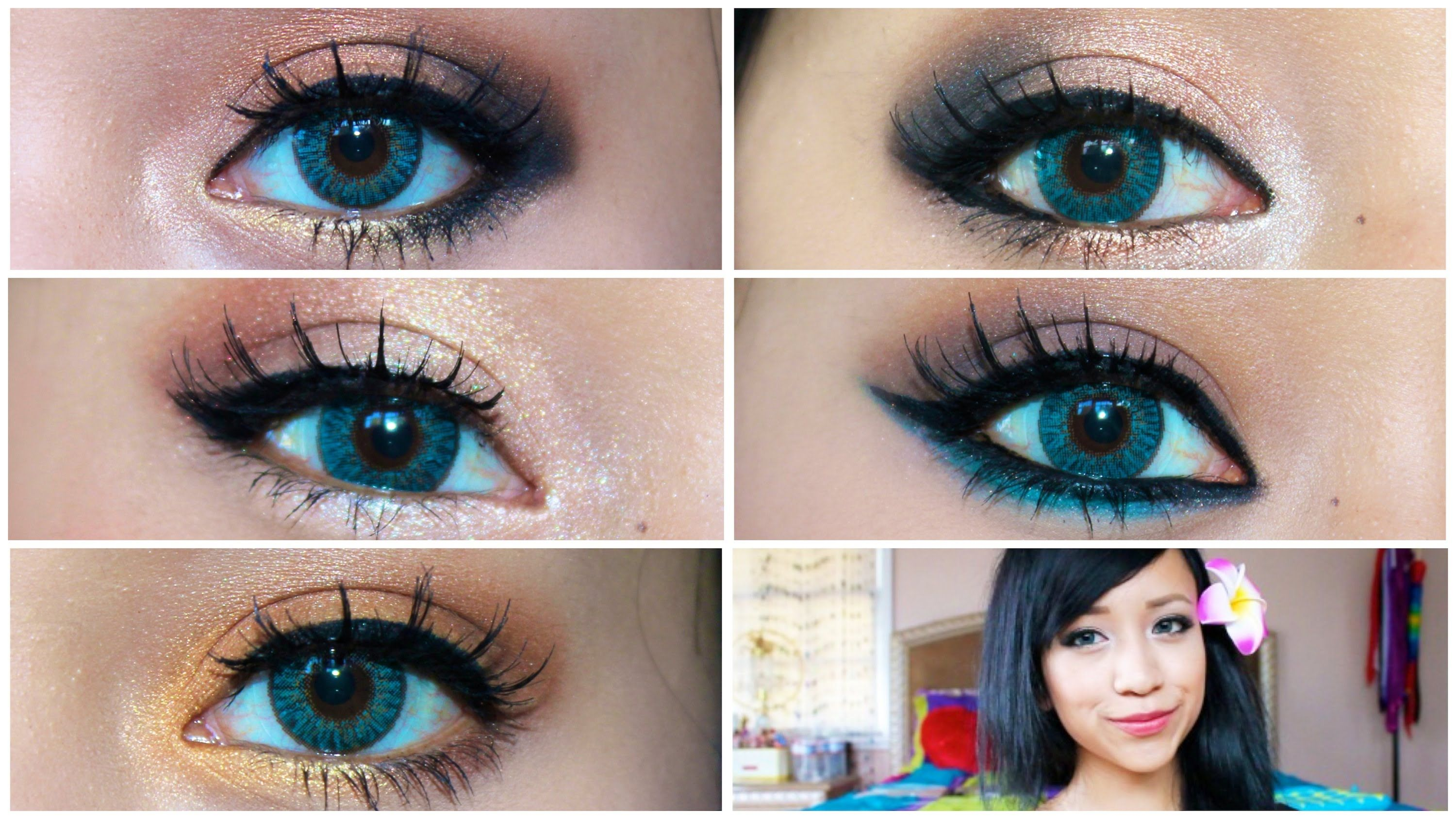 photos makeup for dark brown hair and blue mobile high resolution looks that make pop ol eye