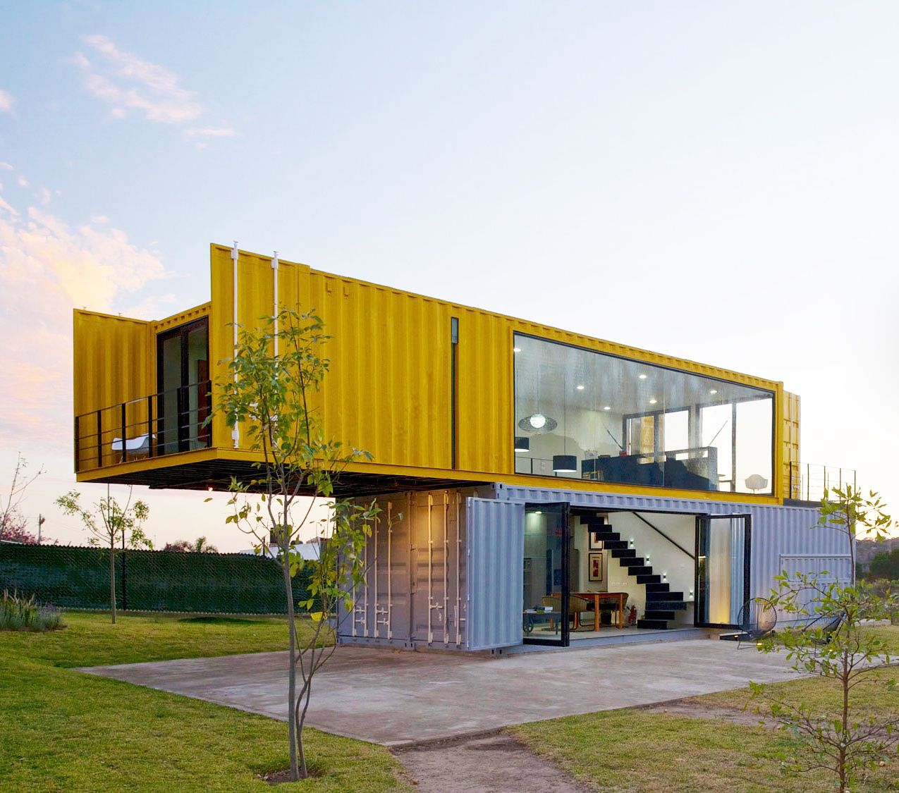 Steel Containers Homes 4 shipping containers prefab plus 1 for guests | remote, house and