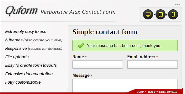 Quform Is A Powerful Responsive Ajax Contact Form That You Can