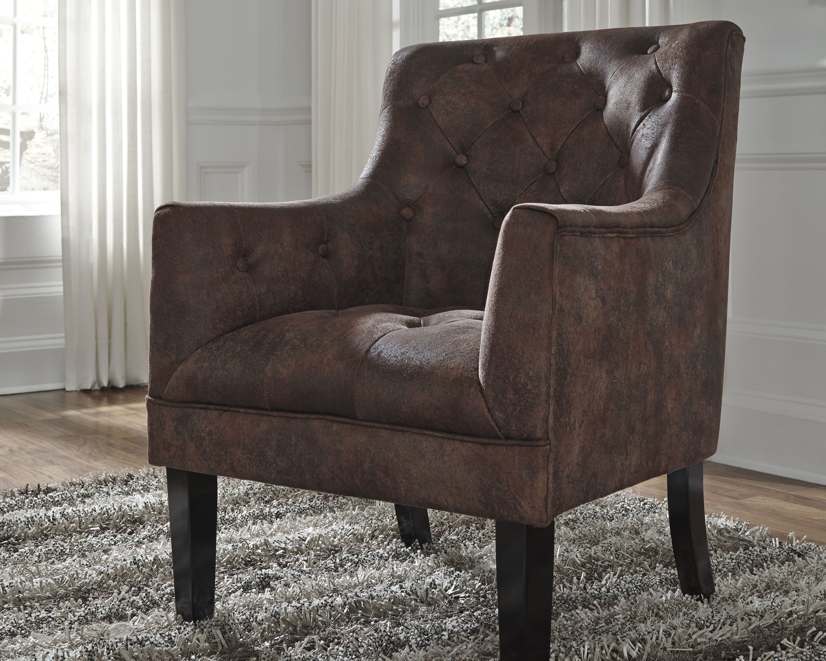 Drakelle Accent Chair Mahogany Accent Chairs Furniture New