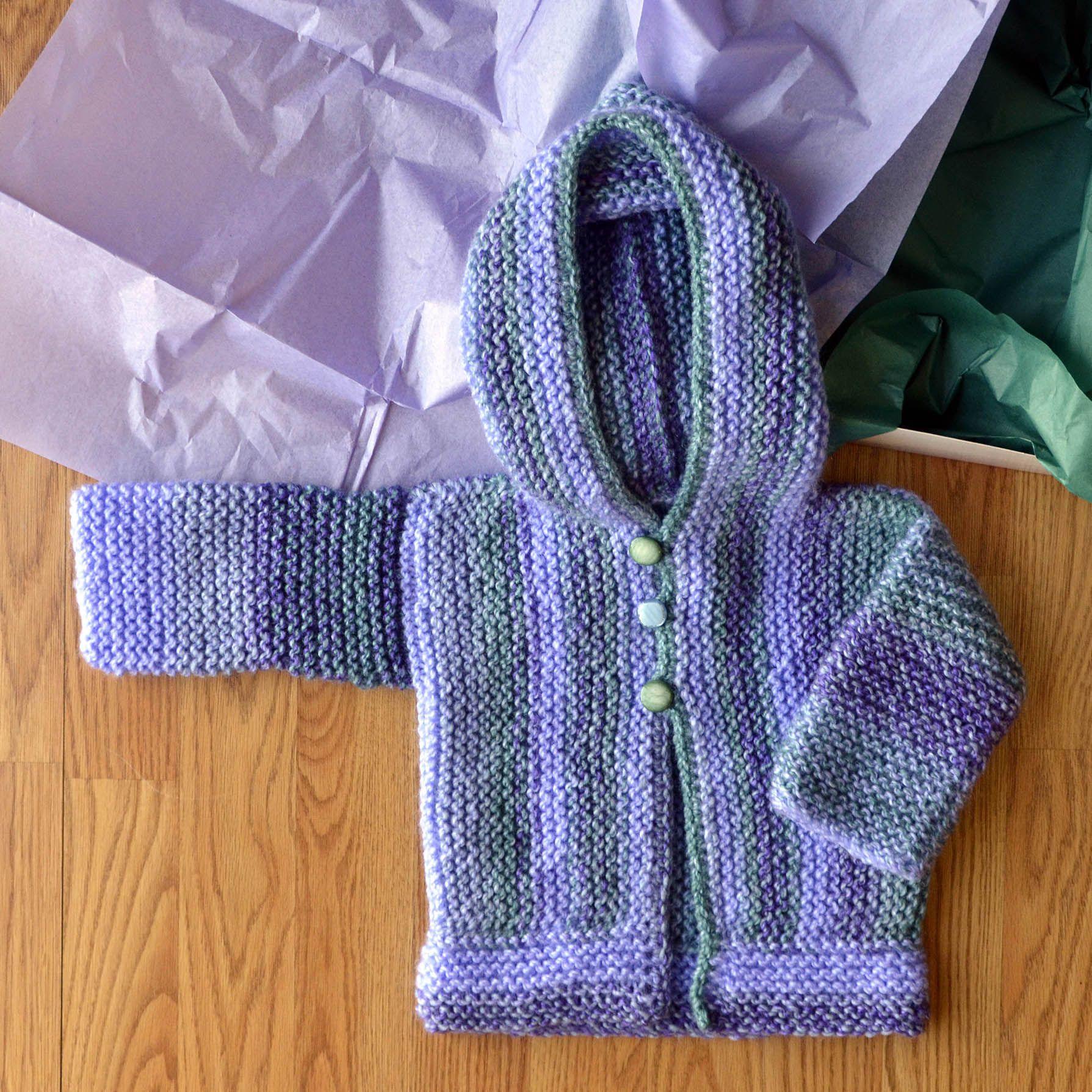 Free Pattern Friday - Cozy Cardi knit in Universal Yarn Major | baby ...