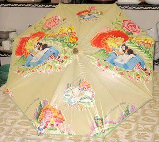 Umbrella By Elrene Mfg Co Disney Alice Alice In Wonderland Animated Vintage Disney