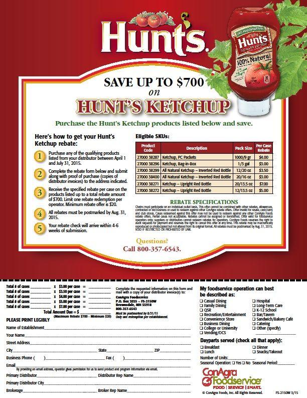 Hunts Ketchup | Food Service Distributors | Ketchup, Food
