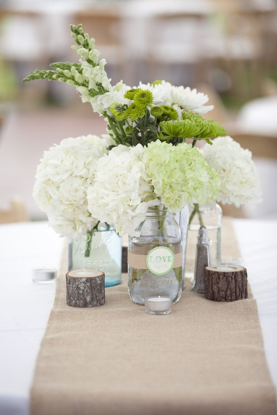 fleurs blanches pour tables