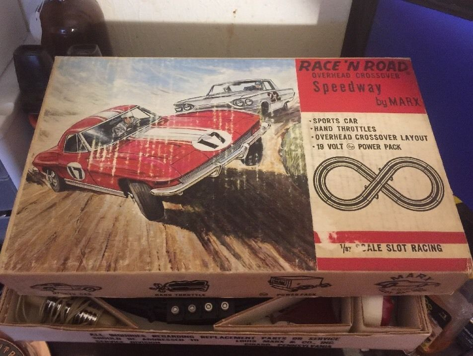 VINTAGE MARX RACE AND ROAD SLOT CAR TRACK And Hand Parts Only | eBay ...