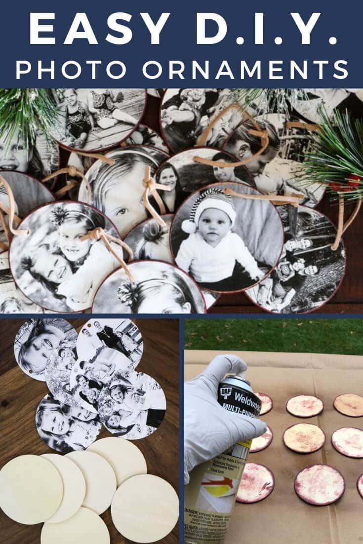 DIY Photo Christmas Ornaments Tutorial #diychristmasornaments