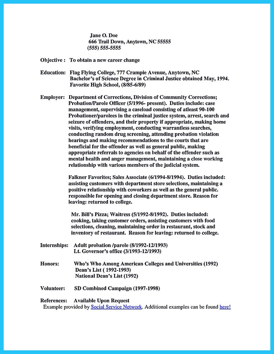 Nice Perfect Correctional Officer Resume To Get Noticed Check More At