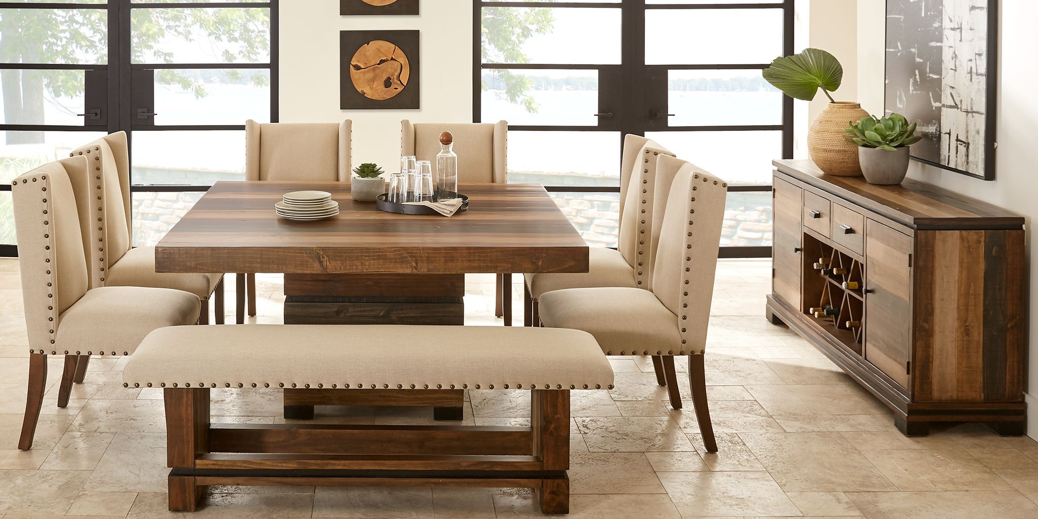 cindy crawford home westover hills brown 5 pc square on rooms to go dining room furniture id=81107