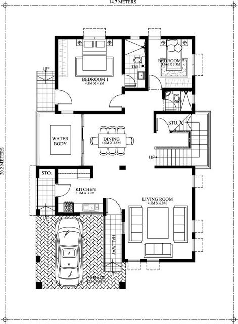 50 Images Of 15 Two Storey Modern Houses With Floor Plans And Estimated Cost Duplex House Plans Double Storey House Plans Indian House Plans