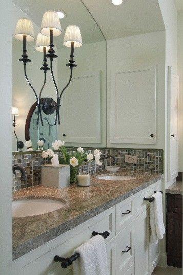 11 Simple Ways To Make A Small Bathroom Look Bigger Home Decor Small Bathroom Master Bath Remodel