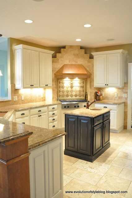i do not want white cabinets but i do want 2 tone kitchen with an espresso island and maybe on kitchen cabinets not white id=67560