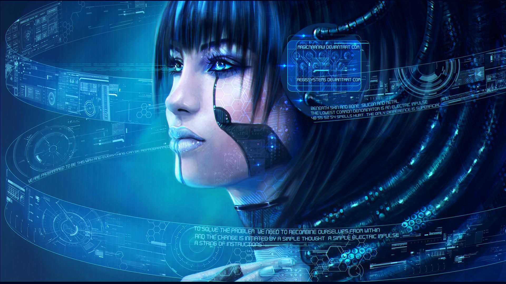 technics face robot fantasy girls cyborg cyborgs robot robots sci-fi