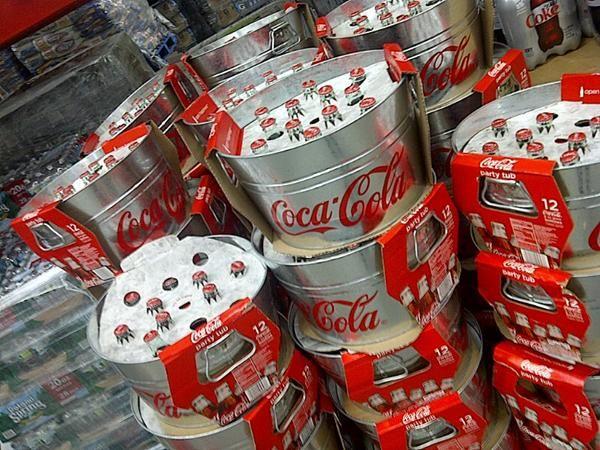 coca-cola buckets!