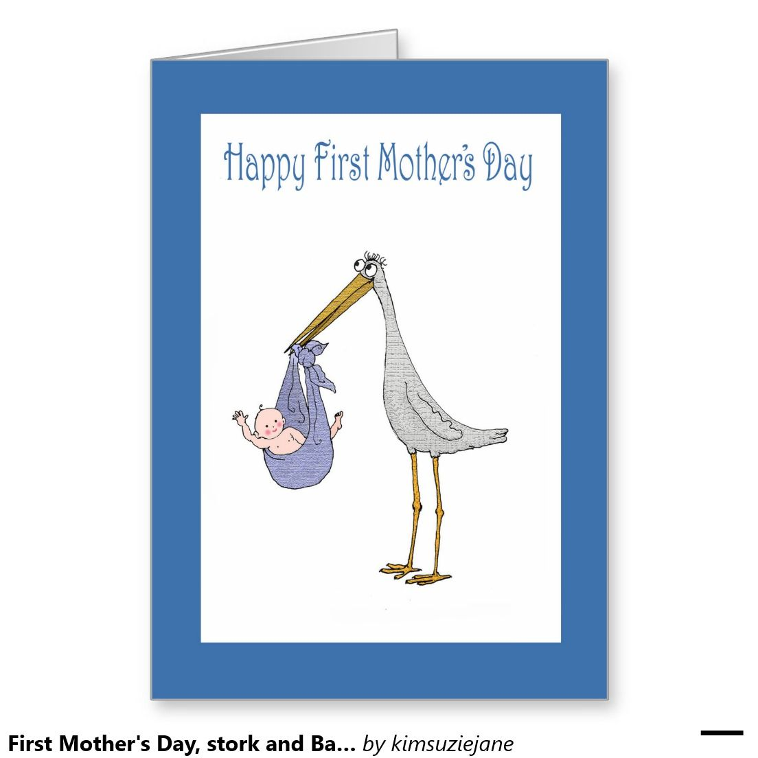First Mothers Day Stork And Baby Card Greeting Cards Pinterest