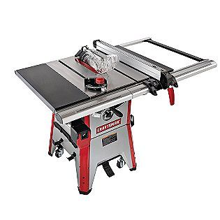 Craftsman 21833 Professional 10 1 3 4 Hp Contractor Grade Table Saw 550 Contractor Table Saw Craftsman Table Saw Table Saw