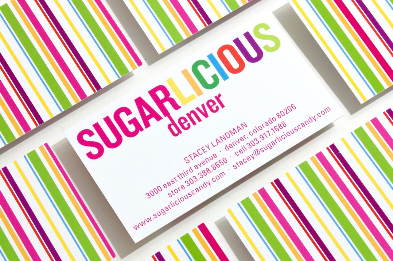 sugarlicious-candy-business-card-pop-bright-stripes | Candies ...