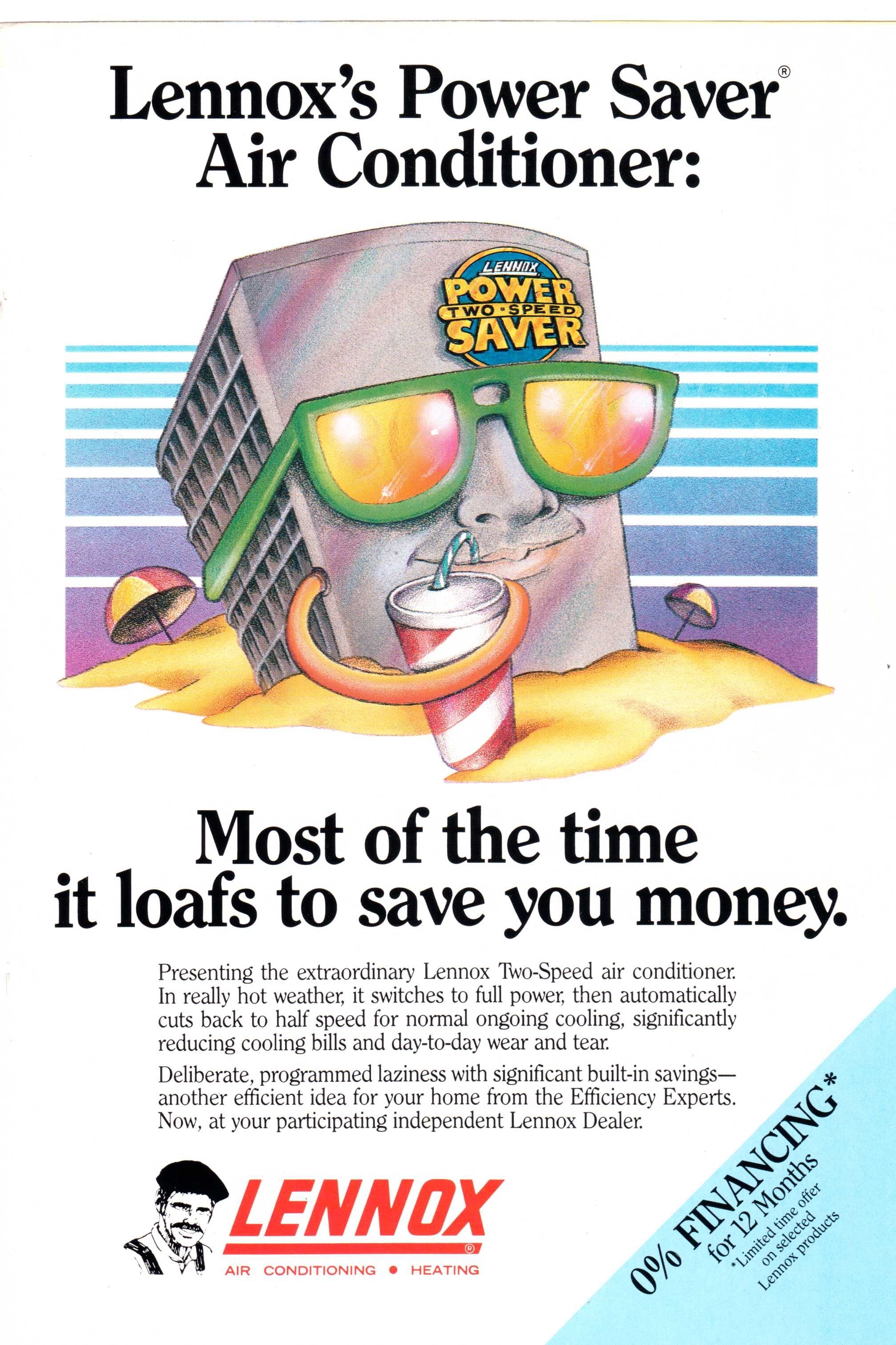 1987 Lennox Ac And Heating Ad From National Geographic May 1987 Air Conditioner Power Saver Savers