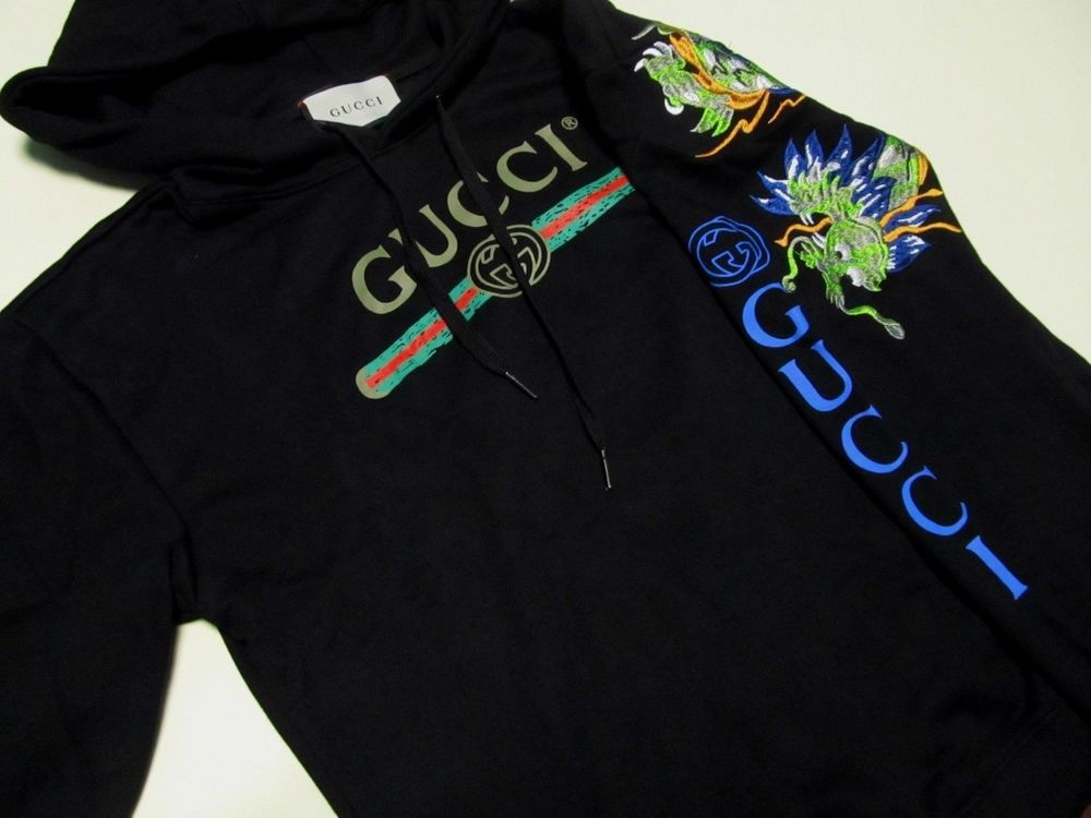hot-selling authentic unparalleled best quality for Gucci Hoodie Logo Black Large #fashion #clothing #shoes ...