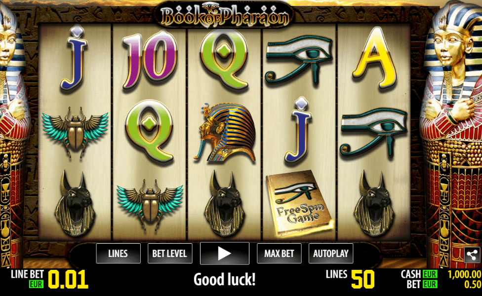 Book Of Pharaon HD Slot Machine With No Download