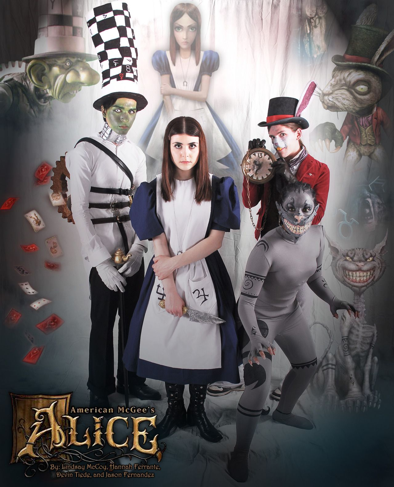 Jason Fernandez As The Mad Hatter Annortha As Alice Devin Tiede