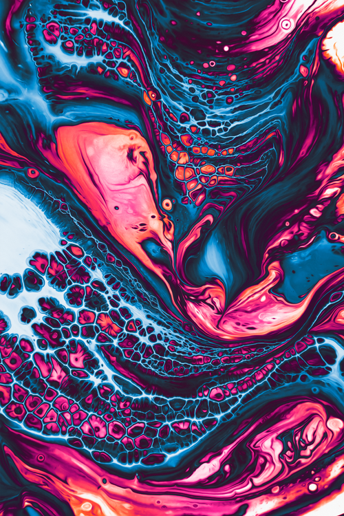 Tasty Fluid Art Print by geoglyser