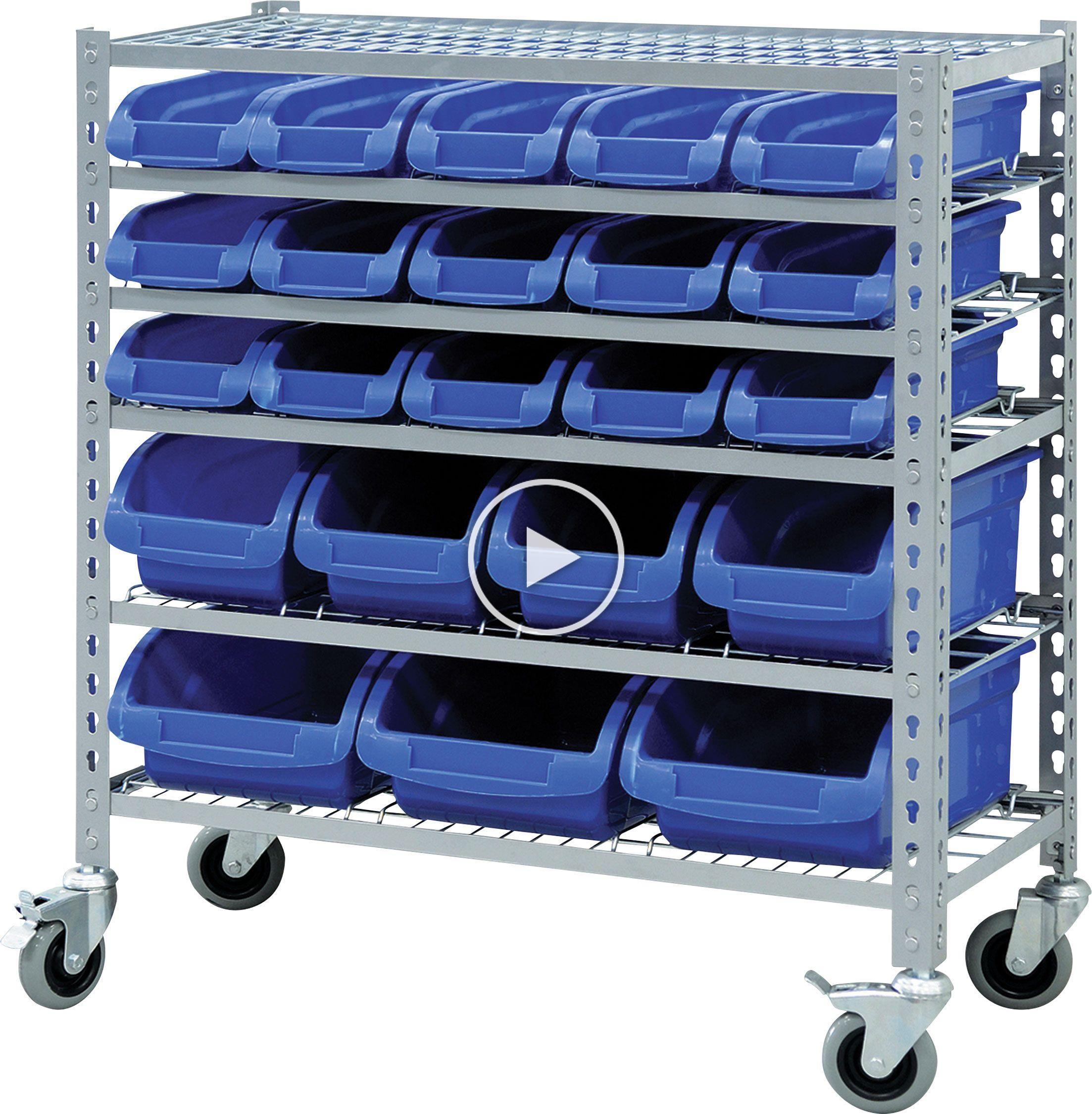 22 Bin Storage Rack Princess Auto In 2020 With Images Storage Bin Racks Industrial Shelving Units Cheap Storage