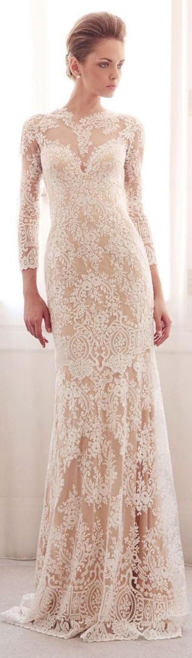 Gemy Maalouf Bridal S/S 2014 longsleeved