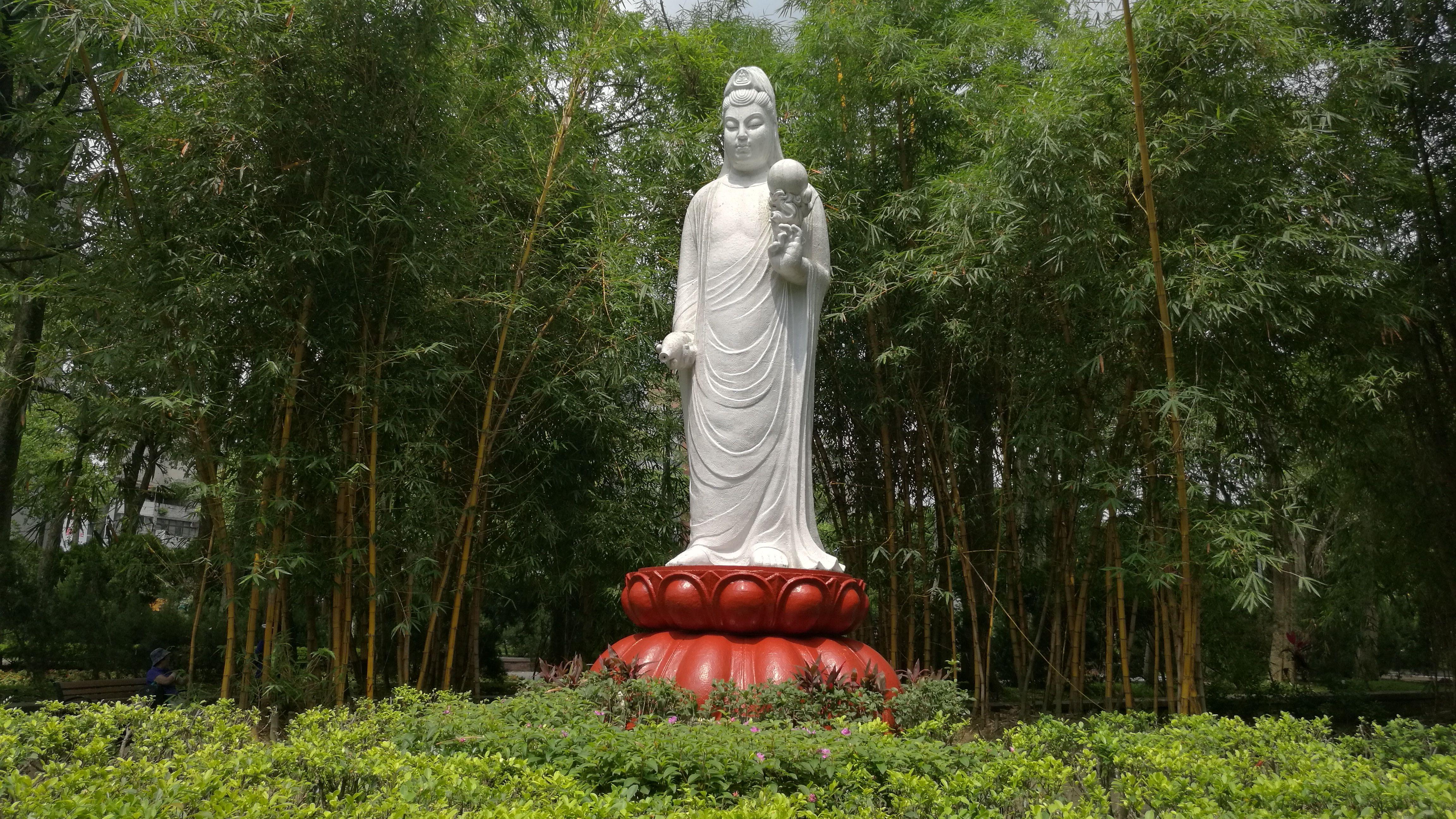 Lady Bhuda en un parque de Taipei