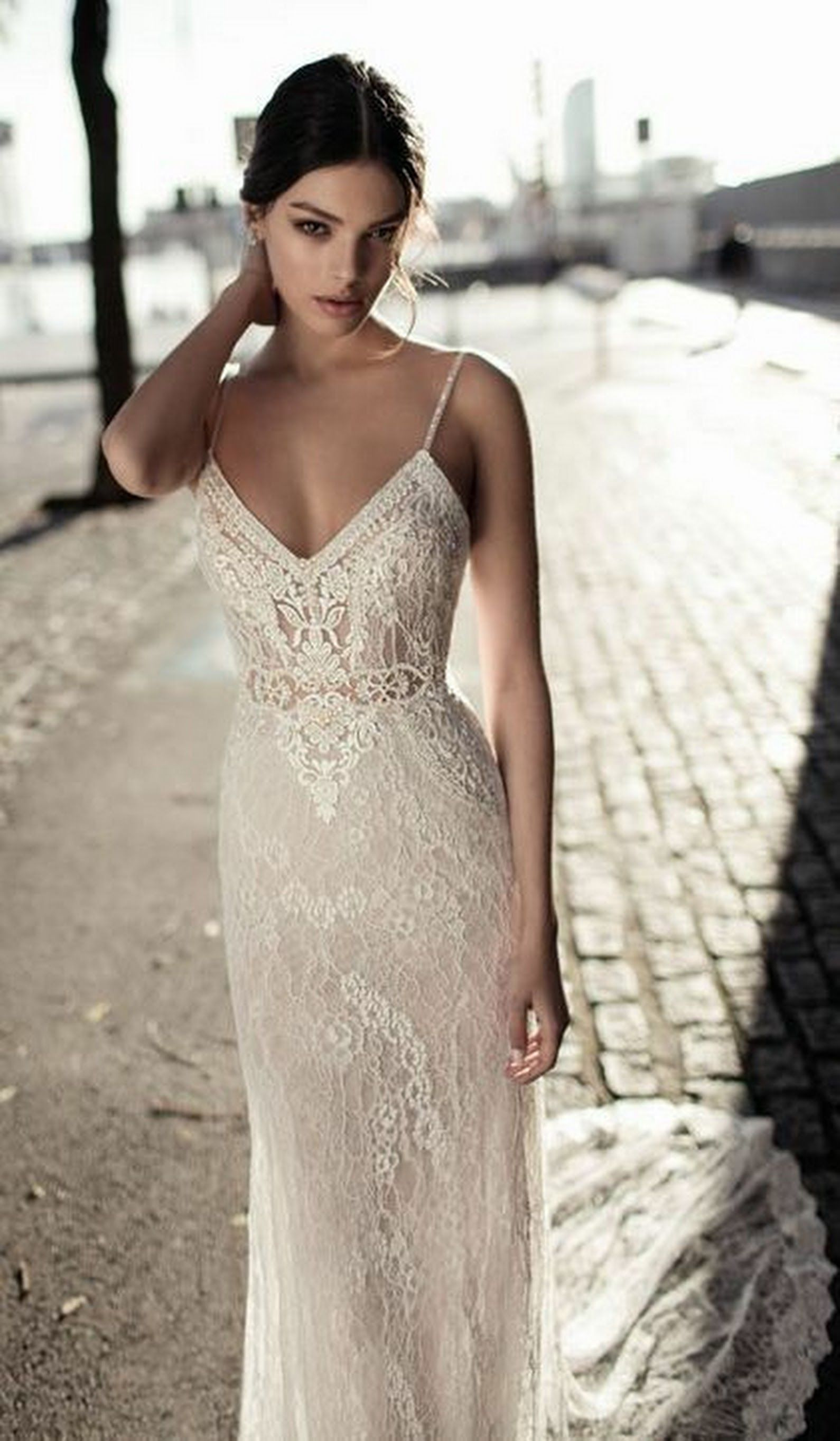 Lace bohemian wedding dress  Lovely lace  All things wedding  Pinterest  Wedding dresses
