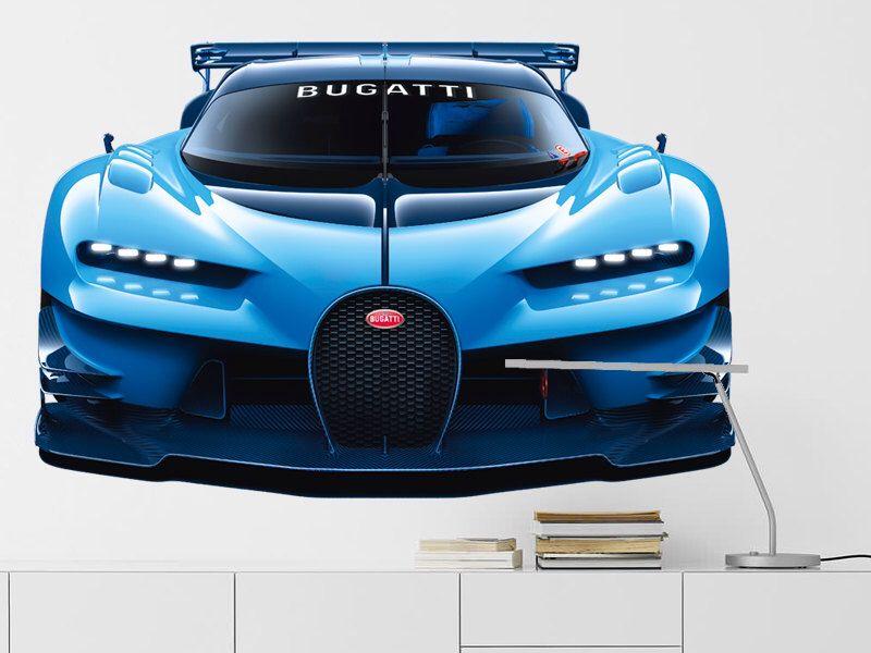 bugatti chiron wall decal, autocollant de mur de veyron, bugatti