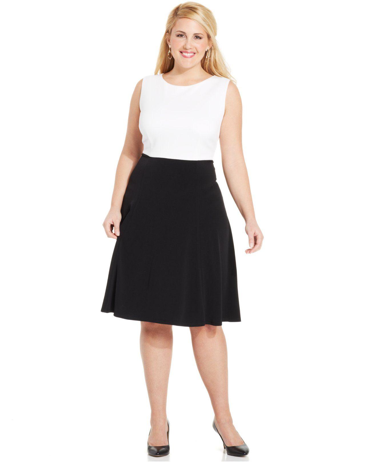 Jessica Howard Plus Size Geo-Print Dress and Jacket - Dresses ...