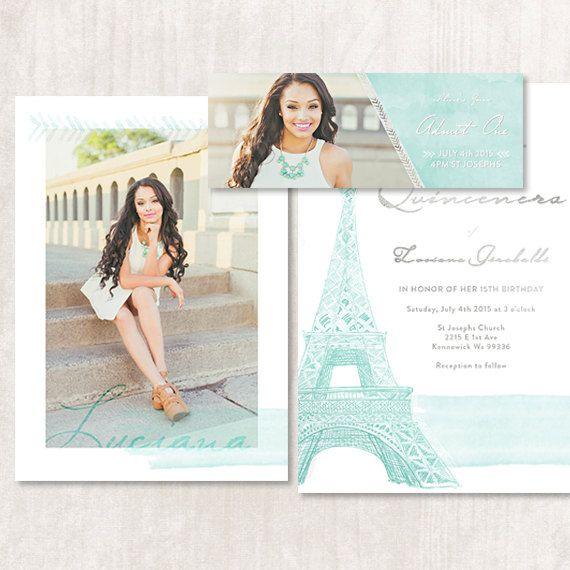 $10 Paris, Parisian, French, Eiffel Tower themed Quinceanera ...