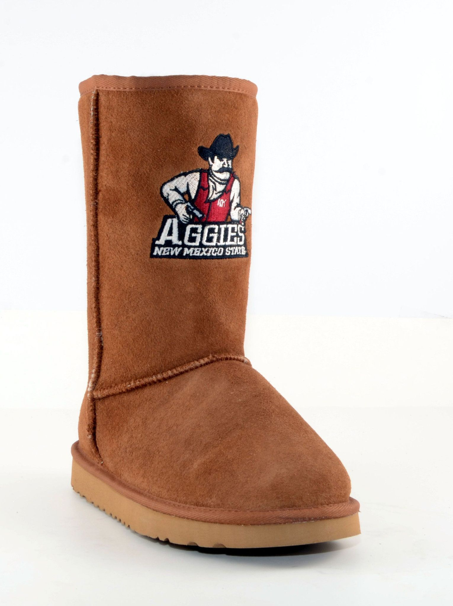 Gameday New Mexico State Ladies Sheepskin Roadie Boots - Hickory