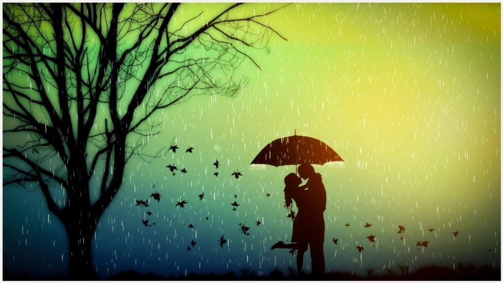 23 Romantic Nature Rain Wallpaper Hd Lovers Romance In Rain Wallpaper Lovers Romance In Rain Desktop Wallpaper Laptop Mac Macboo Di 2020 Romantis Pemandangan Gambar