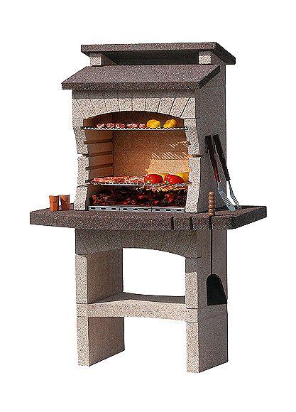 Barbacoas de obra con campana tarragona ref 14087423 for Housse barbecue leroy merlin