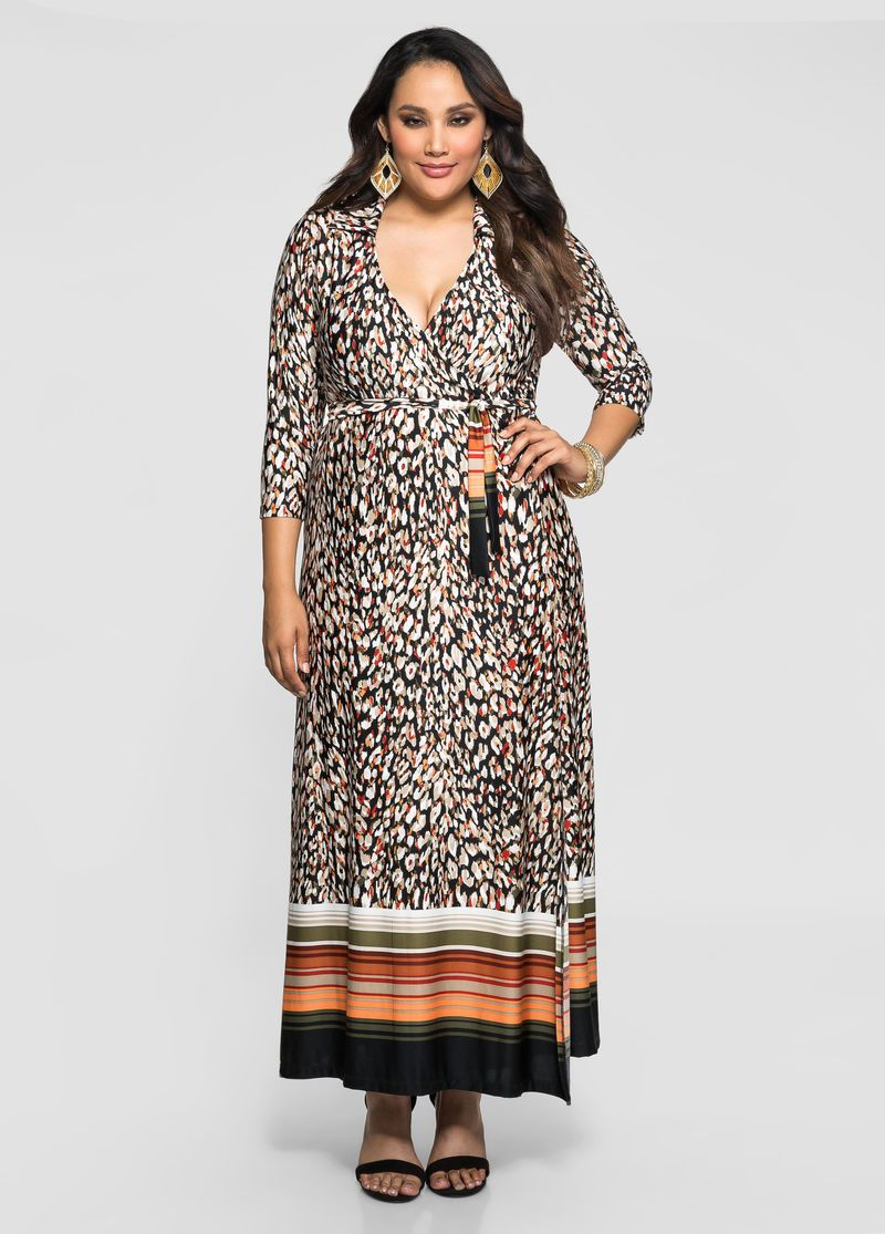 Belted Wrap Front Maxi Dress Plus Size Dresses Ashley Stewart Plus Size Maxi Dresses Dresses Fashionable Plus Size Clothing [ 1115 x 800 Pixel ]