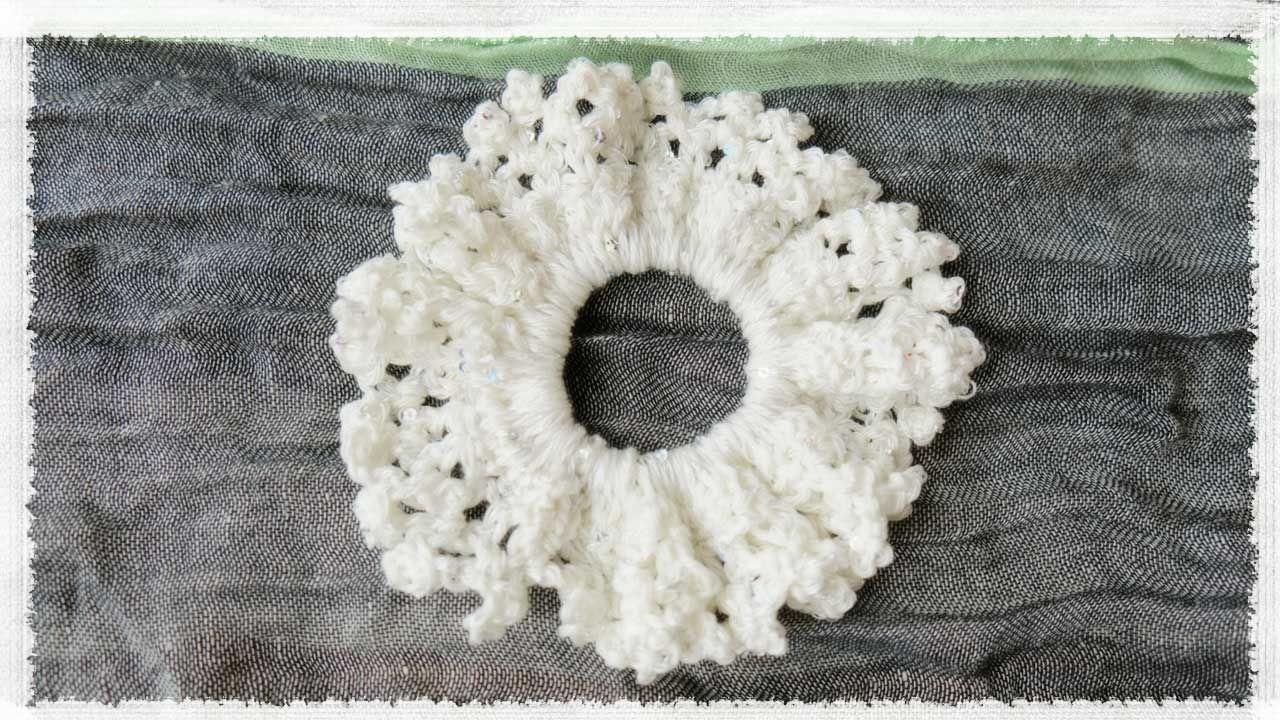 夏っぽシュシュの作り方・編み方の作り方|編み物|編み物・手芸 ...