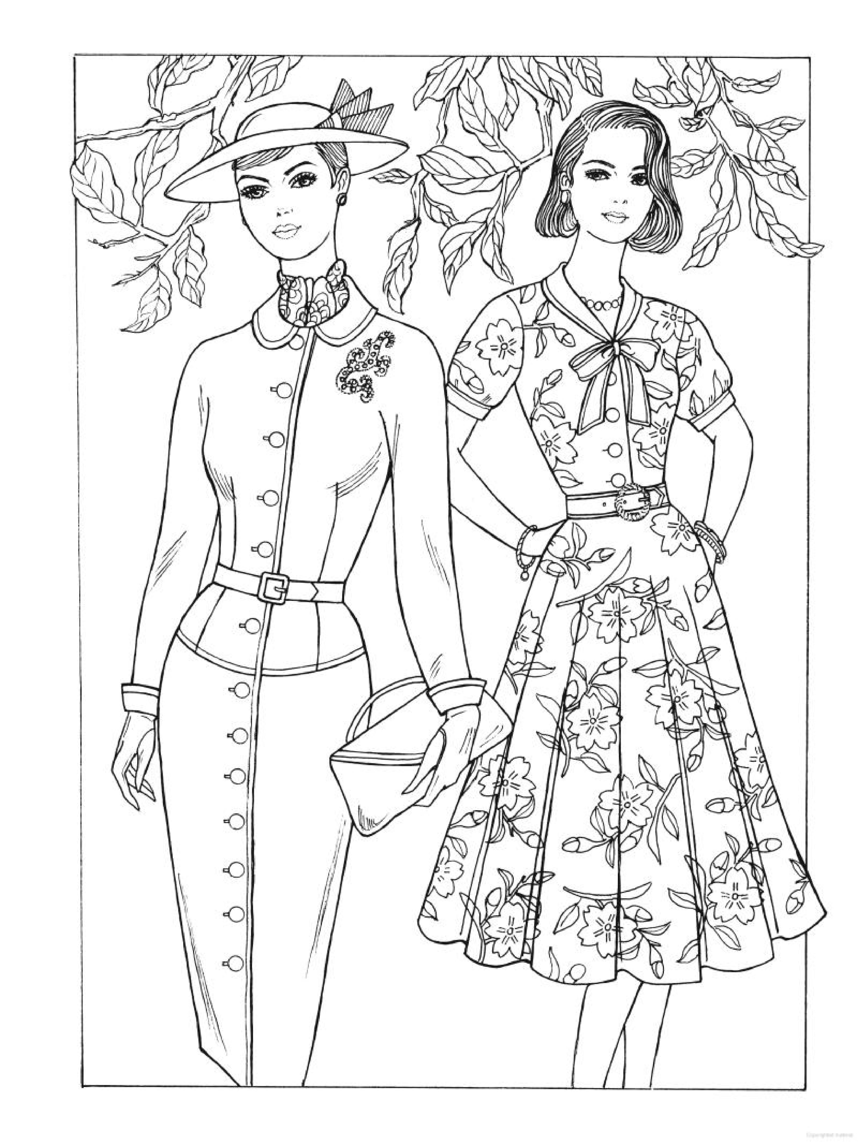Creative Haven Fabulous Fashions of the 1950s Coloring