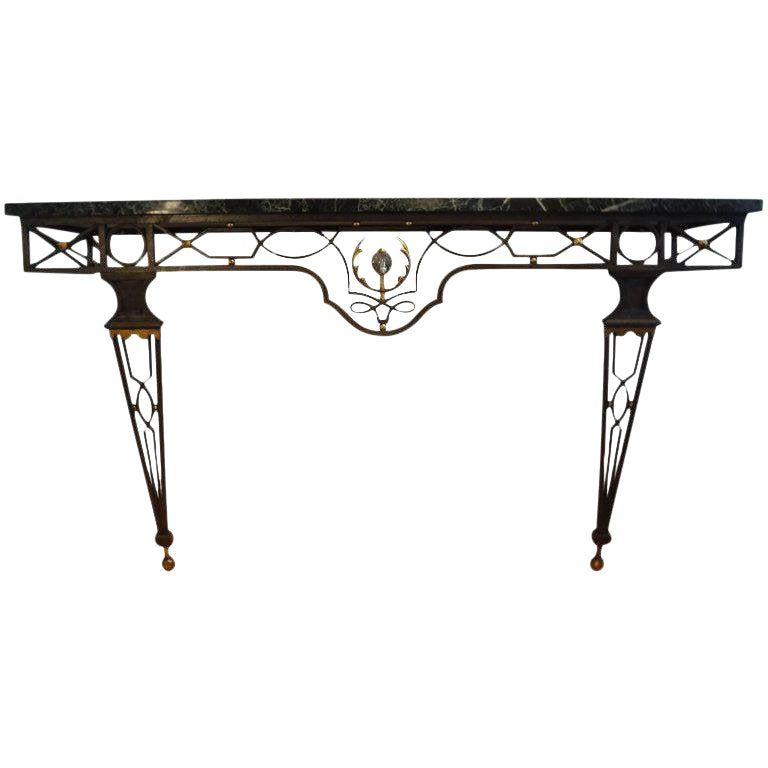 French Neoclassical Style Gilbert Poillerat Attributed Iron