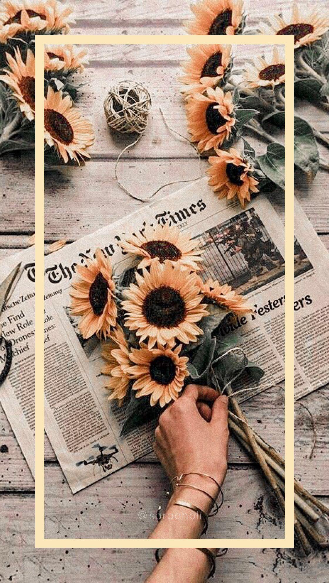 Wallpapers #sunflowerwallpaper   Aesthetic iphone ...