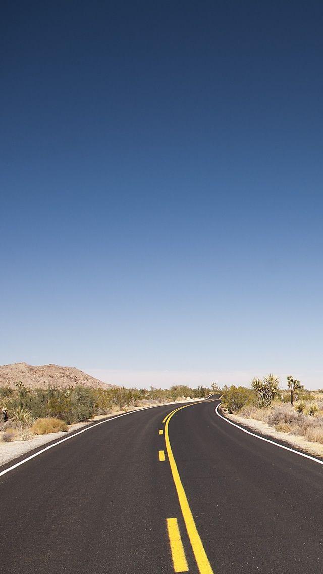 Joshua Tree Desert Road IPhone 5s Wallpaper Download