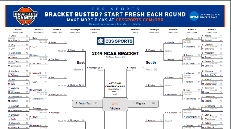 NCAA bracket 2019 Check out how Virginia was able to