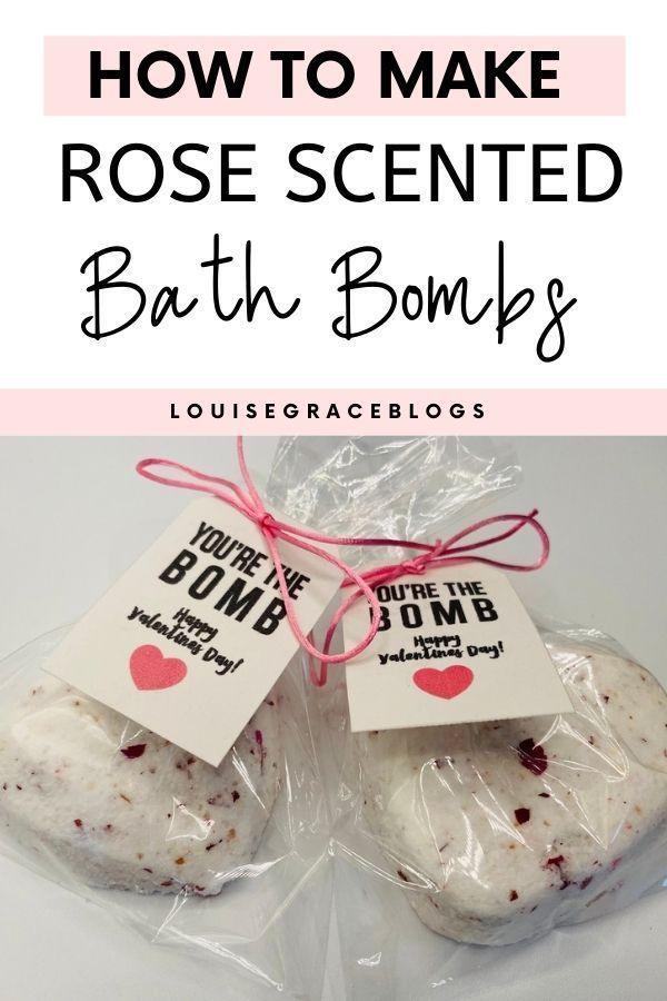 DIY Rose scented bath bombs