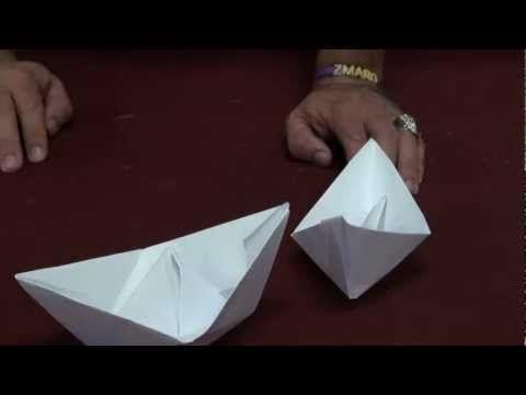 Aprenda a fazer barquinhos de papel - dobradura (How to Make a Paper Boat) - ALL LANGUAGES